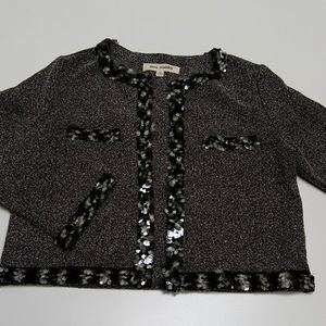 Steve Madden Cropped Cardigan w Embellishments